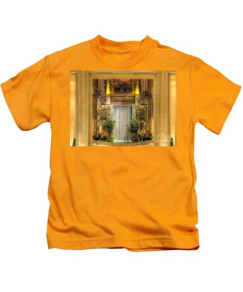 Waterfall View And Hues Kids T-Shirt