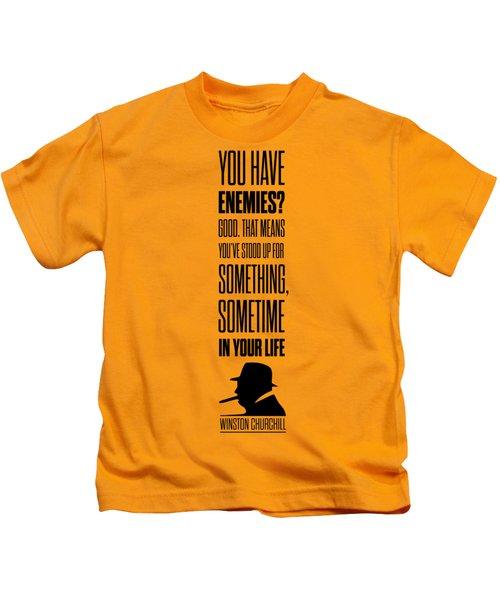 Winston Churchill Inspirational Quotes Poster Kids T-Shirt