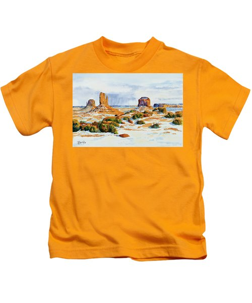 Winter In The Valley Kids T-Shirt