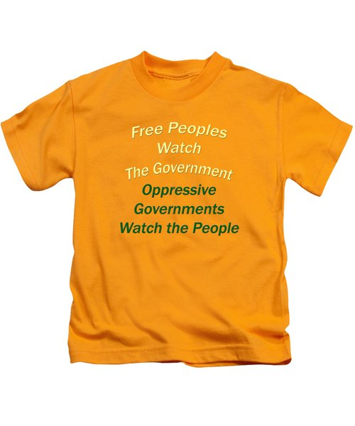 Wise Sayings About Government 5004.02 Kids T-Shirt