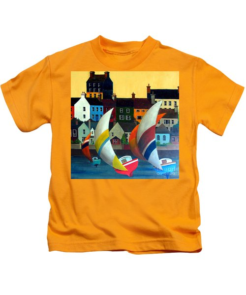 With The Wind In Kinsale, West Cork Kids T-Shirt