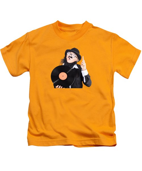 Woman Disc Jockey Kids T-Shirt