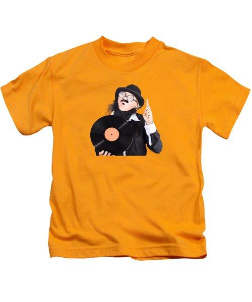 Woman Disc Jockey Kids T-Shirt