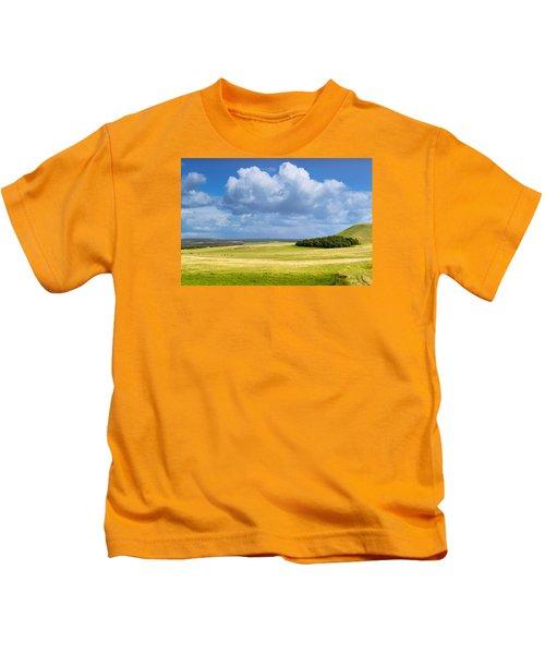 Wood Copse On A Hill Kids T-Shirt