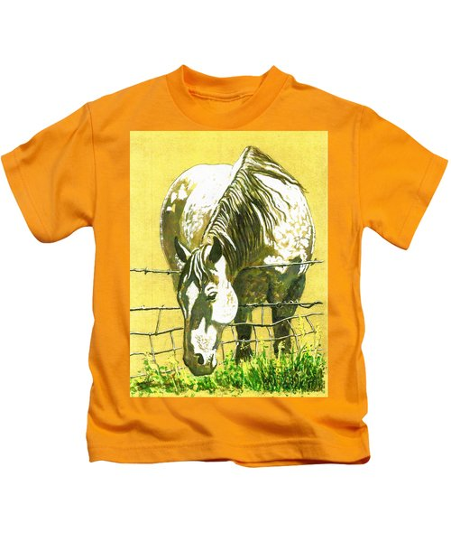 Yellow Horse Kids T-Shirt