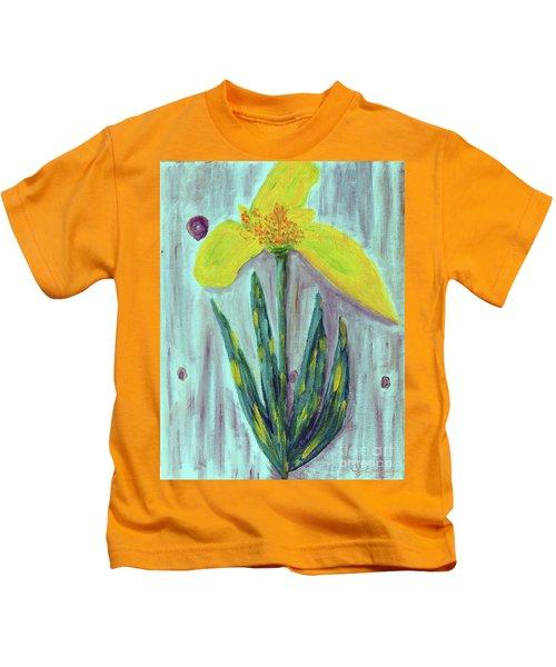 Yellow Lily Kids T-Shirt