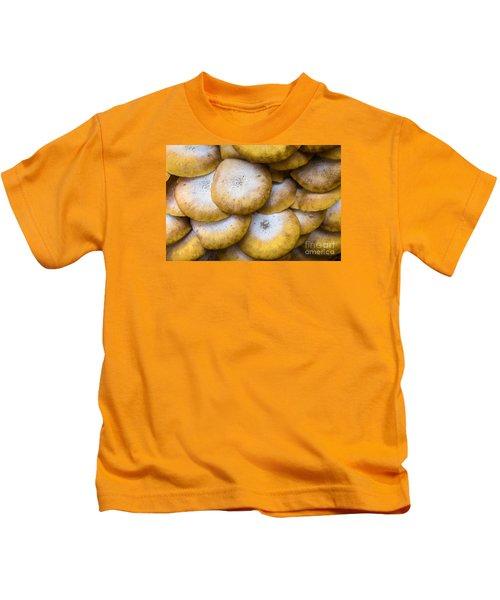 Yellow Mushrooms Kids T-Shirt
