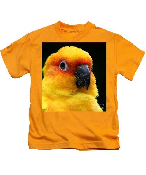 Yellow Parrot Closeup Kids T-Shirt