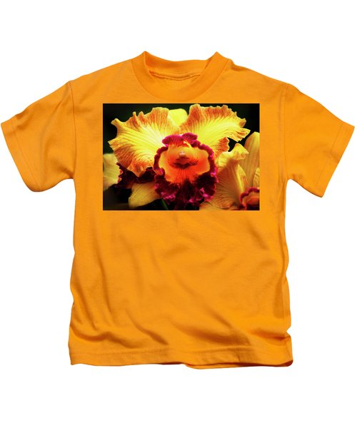 Yellow-purple Orchid Kids T-Shirt