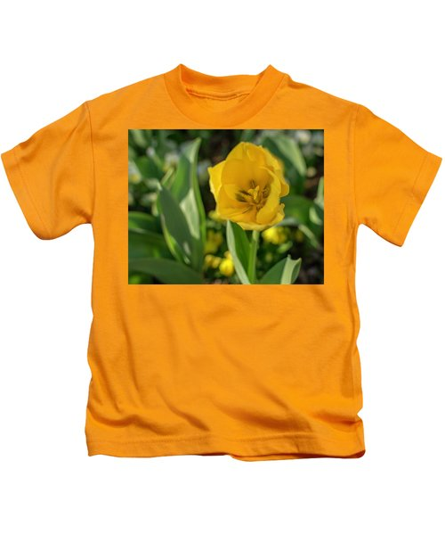 Yellow Tulip Kids T-Shirt