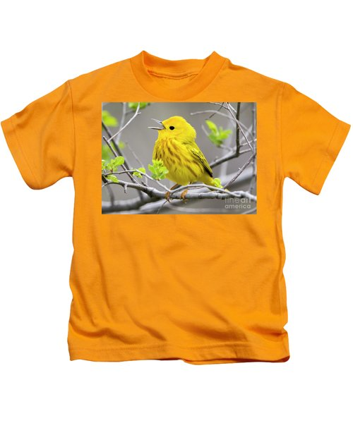 Yellow Warbler  Kids T-Shirt