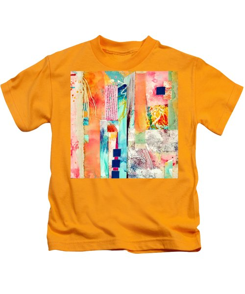 Kids T-Shirt featuring the painting Evermore by Tracy Bonin