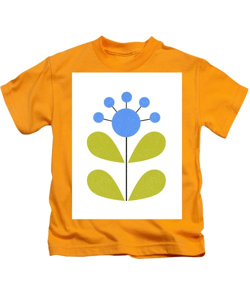 Scandinavian Blue Flower Kids T-Shirt