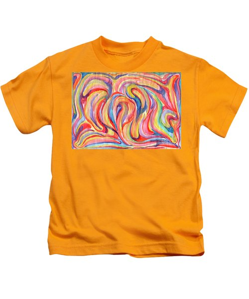 Abstraction In Autumn Colors Kids T-Shirt