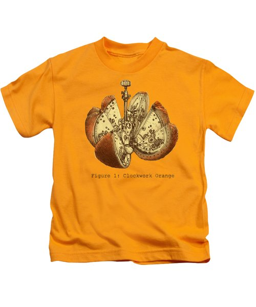 Steampunk Orange Kids T-Shirt
