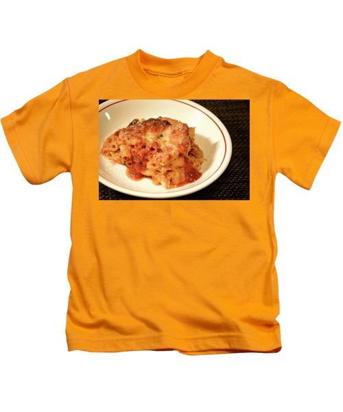 Baked Ziti Serving 3 Kids T-Shirt