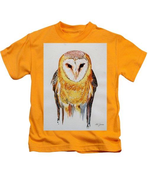 Barn Owl Drip Kids T-Shirt
