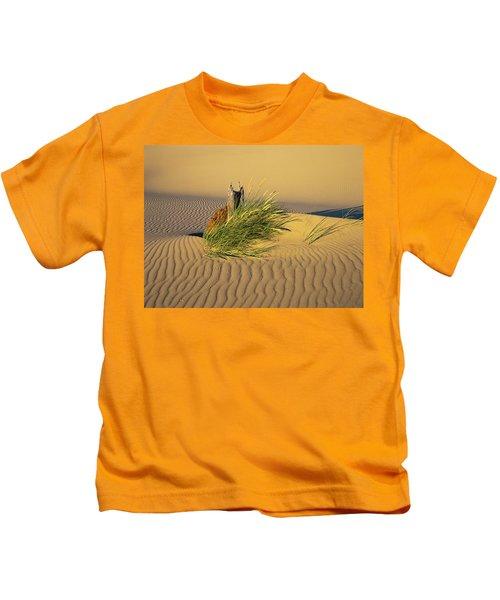 Beachgrass And Ripples Kids T-Shirt