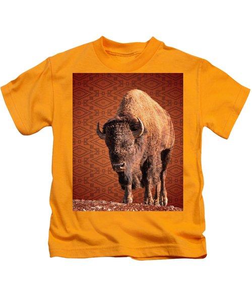 Bison Blanket Kids T-Shirt