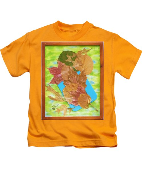 Bouquet From Fallen Leaves Kids T-Shirt