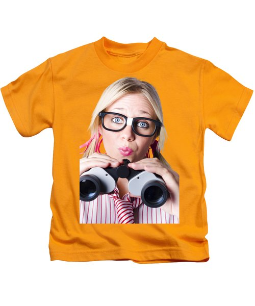 Brainy Businesswoman Looking To Future Development Kids T-Shirt