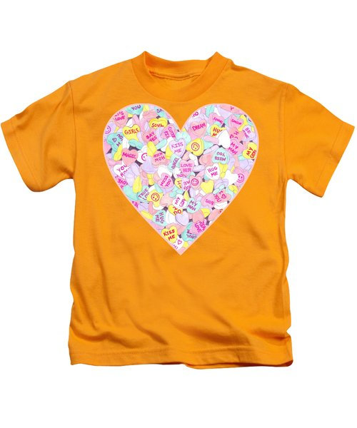 Candy Hearts Sweet Hearts-inspired Kids T-Shirt