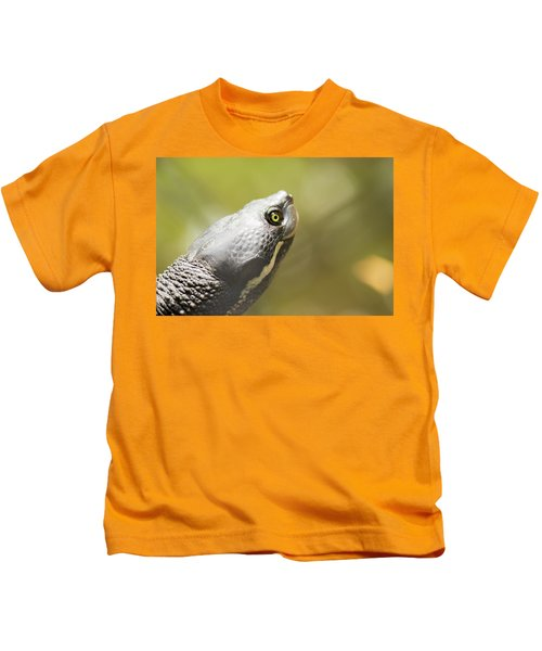 Close Up Of A Turtle. Kids T-Shirt