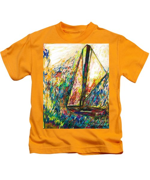 Colorful Day On The Water Kids T-Shirt