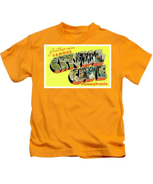 Crystal Cave Greetings Kids T-Shirt