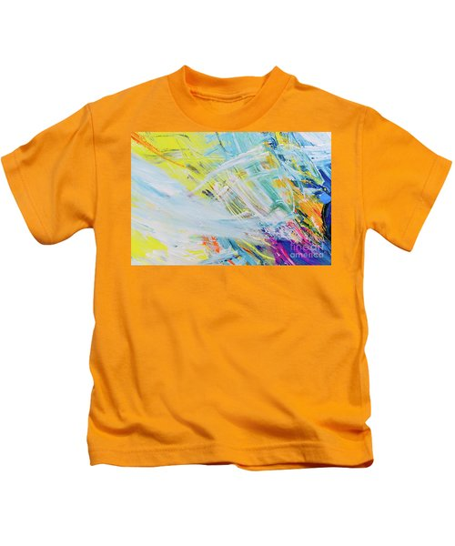 Detail Of Brush Strokes Of Random Colors To Use As Background An Kids T-Shirt