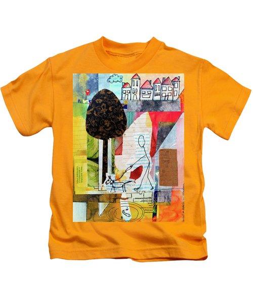 Doggie Walk Kids T-Shirt