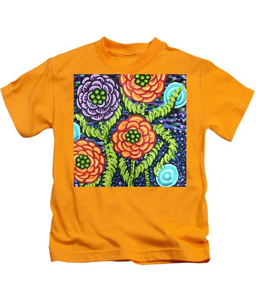 Floral Whimsy 5 Kids T-Shirt