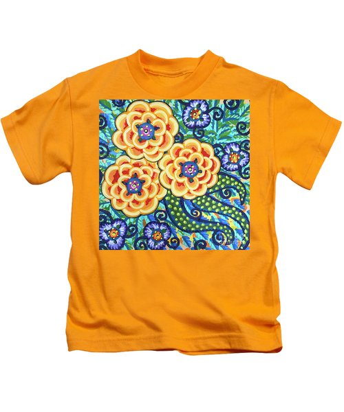 Floral Whimsy 9 Kids T-Shirt