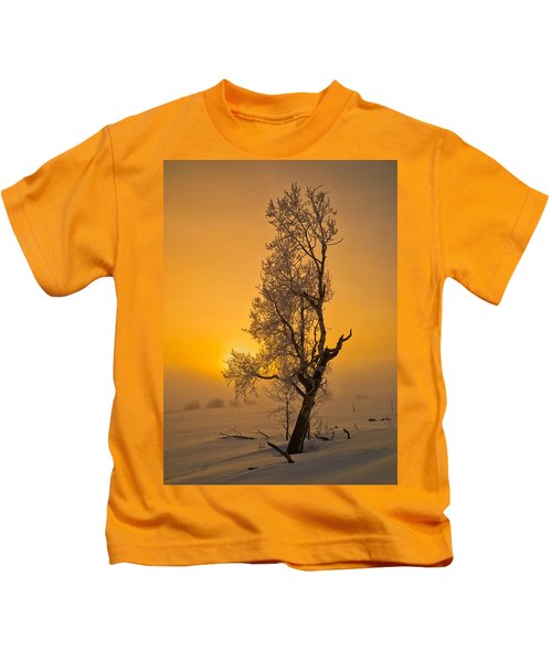 Frosted Tree Kids T-Shirt