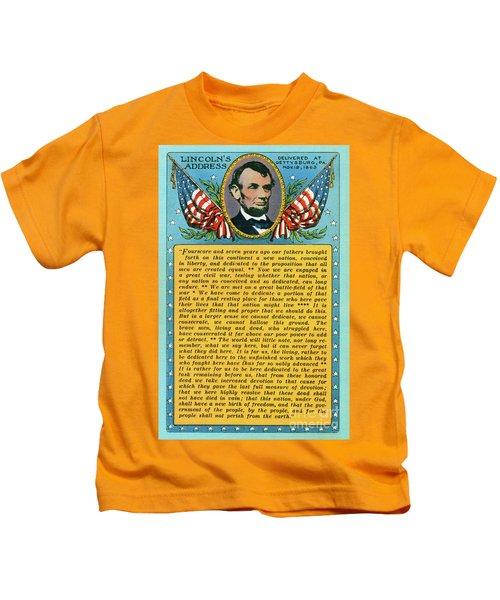 Gettysburg Address By Abraham Lincoln Kids T-Shirt