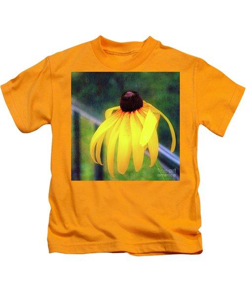 Can-do Cassie Climbing Over The Railing Kids T-Shirt