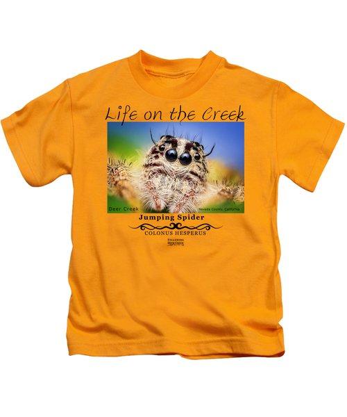 Jumping Spider Colonus Hesperus Kids T-Shirt