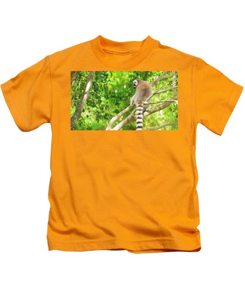 Lemur By Itself In A Tree During The Day. Kids T-Shirt