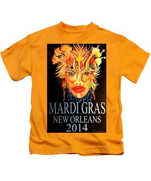 Mardi Gras Lady Kids T-Shirt