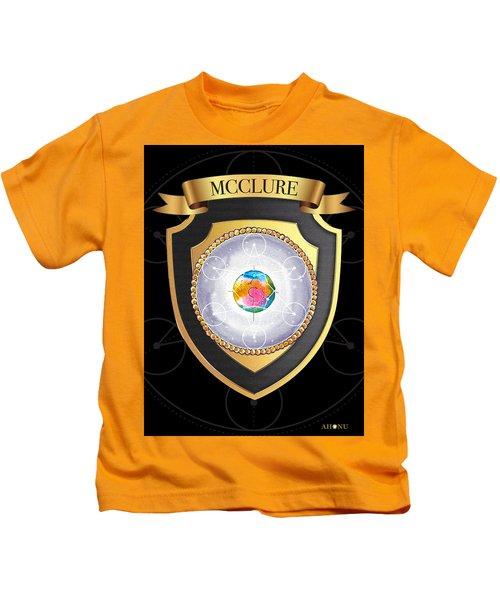 Mcclure Family Crest Kids T-Shirt