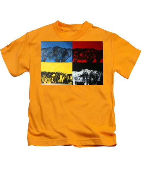 Mooving Out Of Our Land Kids T-Shirt