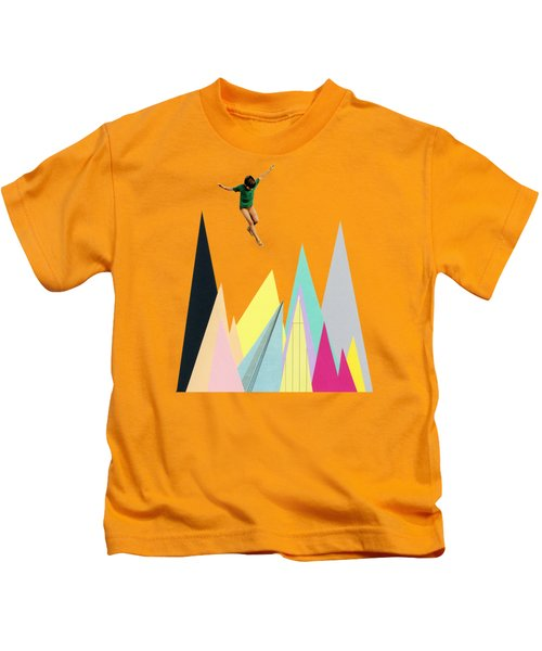 Mountain Jump Kids T-Shirt