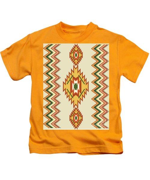 Native American Rug Kids T-Shirt
