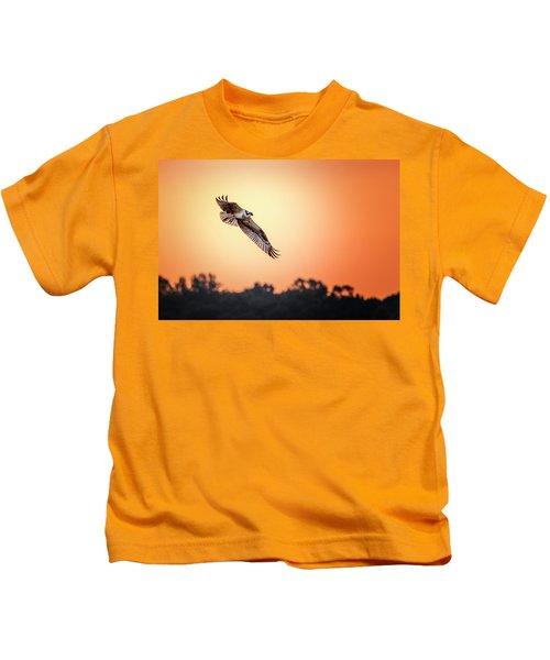 Osprey At Sunrise Kids T-Shirt