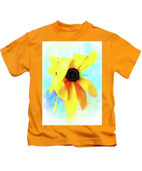 Flopsy - A Charming Wild Black-eyed Susan  Kids T-Shirt