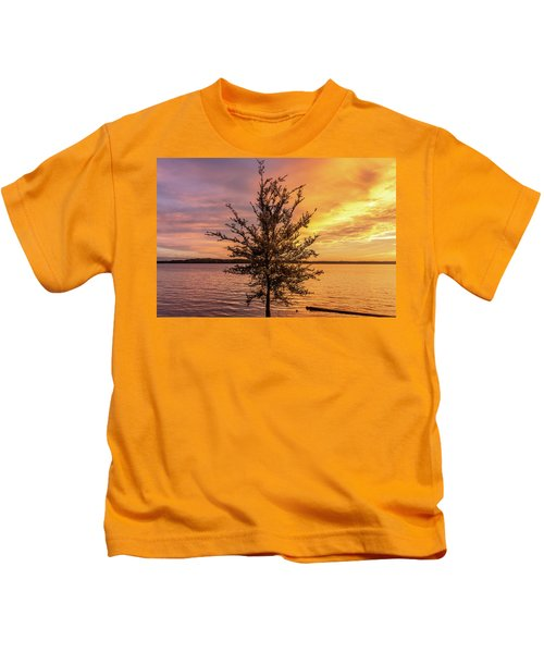 Percy Priest Lake Sunset Young Tree Kids T-Shirt