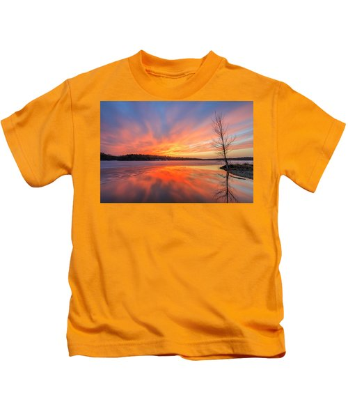 Pond Ablaze Kids T-Shirt