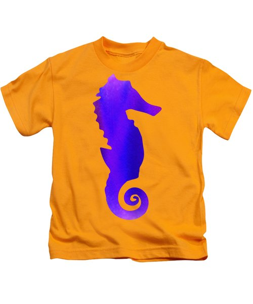 Purple Seahorse Fantasy  Kids T-Shirt