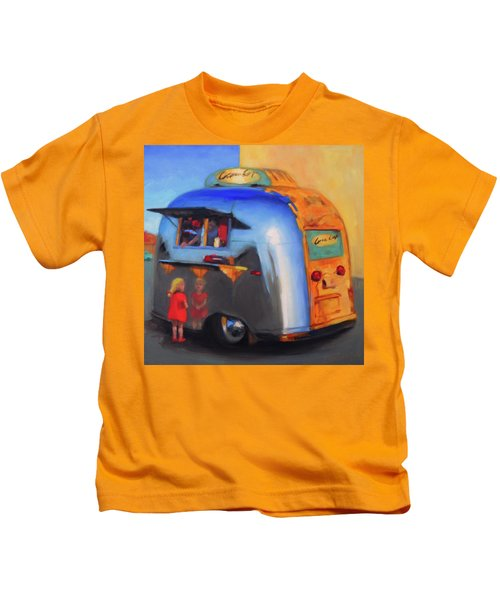Reflections On An Airstream Kids T-Shirt
