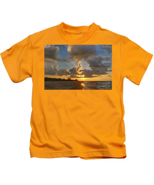 Sanibel Island Sunrays Kids T-Shirt